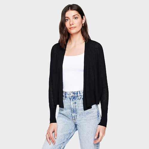 White + Warren Cropped Cardigan