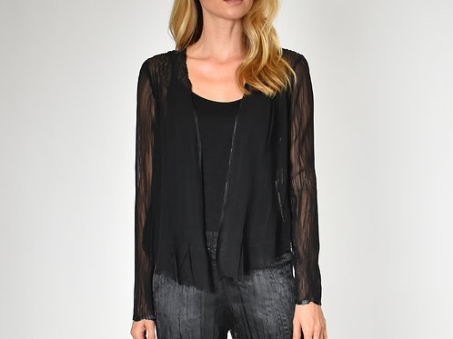 Komarov Long Sleeve Poly Chiffon Open Cardigan