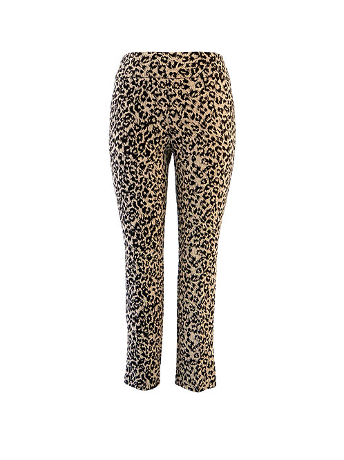 UP! Pants Textured Black and Beige