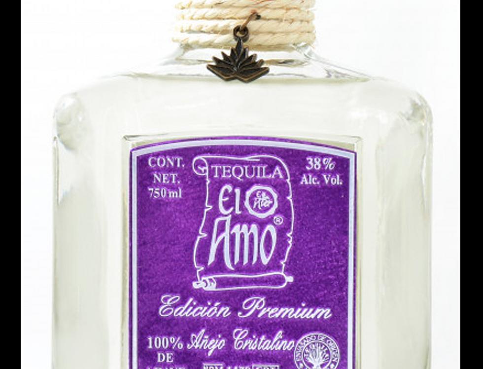 Tequila El Amo Premium Cristalino de 750 ml.