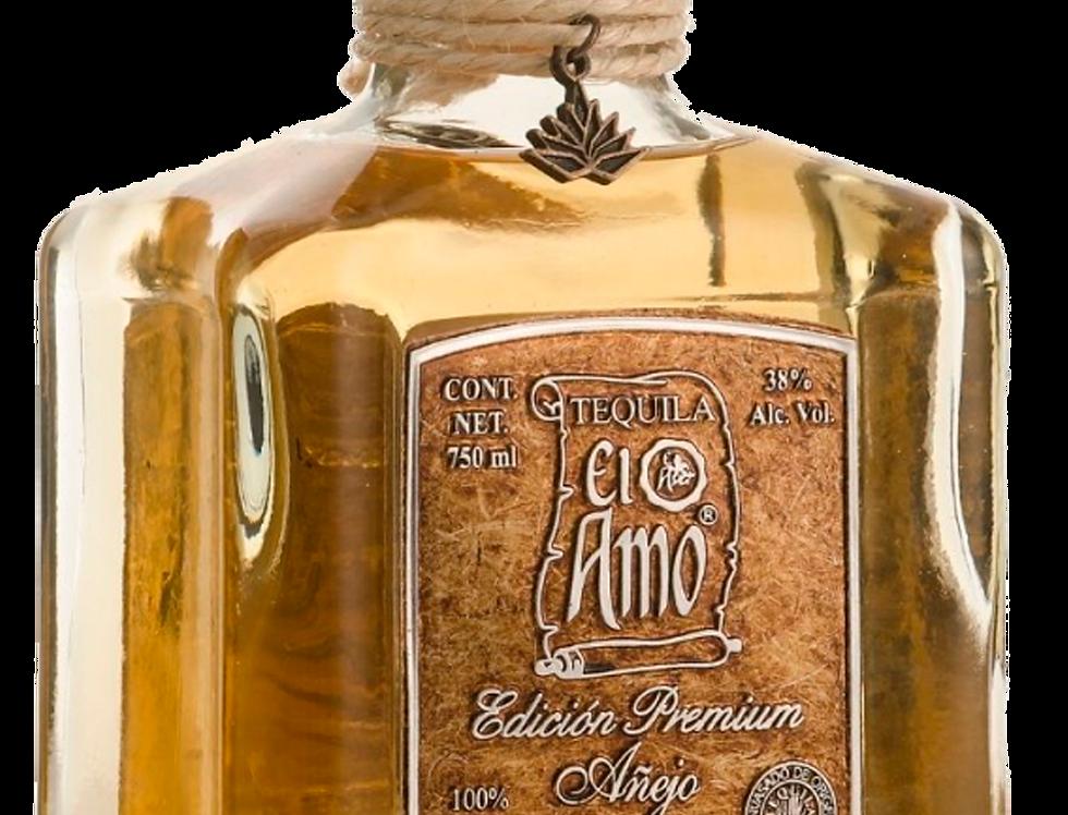Tequila El Amo Premium Añejo de 750 ml.
