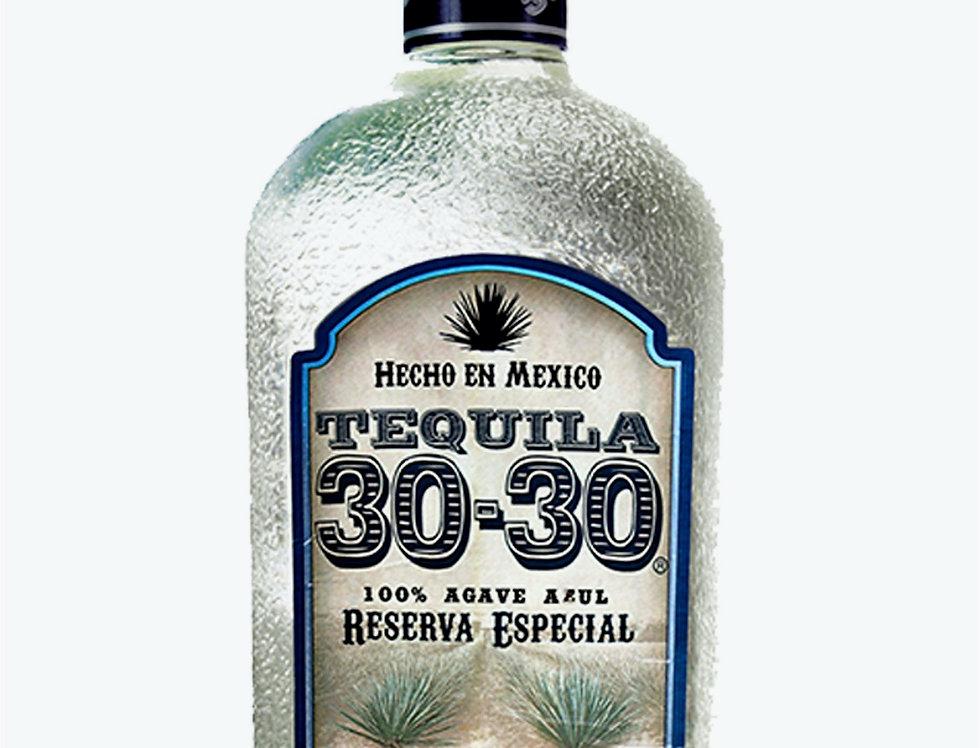 Tequila 30-30 Blanco Reserva Especial de 750 ml.