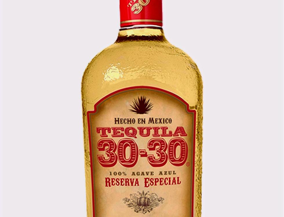 Tequila 30-30 Reposado Reserva Especial de 700 ml.