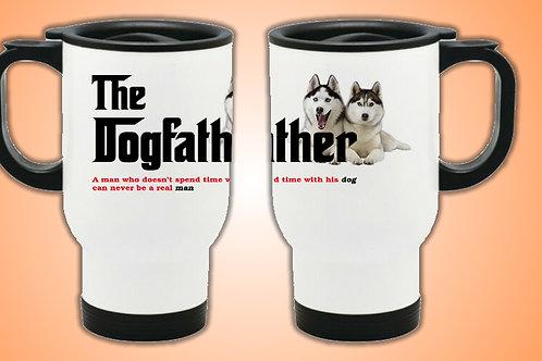 Dog Father Travel Mug (Husky)