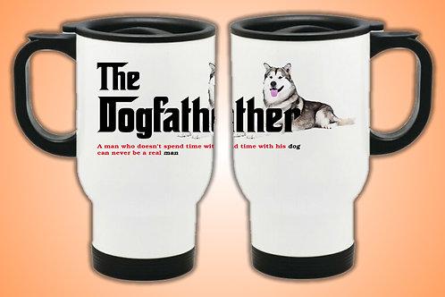 Dog Father Travel Mug (Malamute)