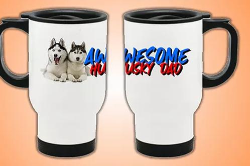 Awesome Husky Dad Travel Mug