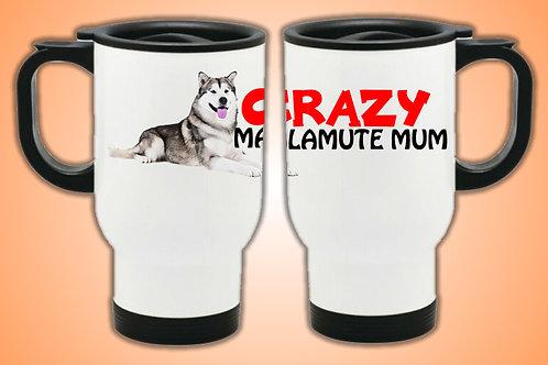 Crazy Malamute Mum Travel Mug