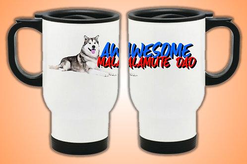 Awesome Malamute Dad Travel Mug