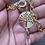 Thumbnail: Cadena gruesa Árbol de la Vida con una gota XL de Cuarzo. Enchape de Oro 18k.