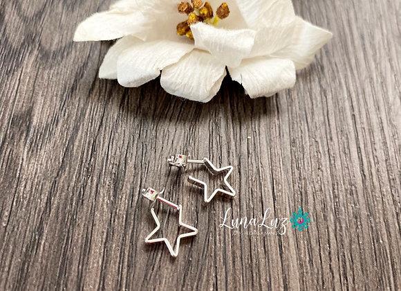 Mini Estrellas Enchapadas en Plata 950