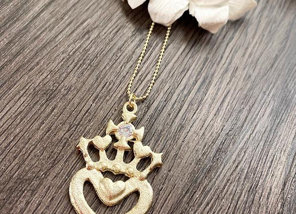 Cadena 45 cms Corazón Detente XL con circon en su centro