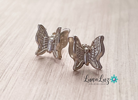 Aros mariposa Plata 925