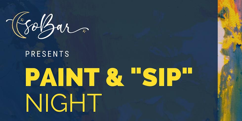 soBar's Paint & 'Sip' Night