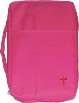 Embroidered Pink Bible Cover