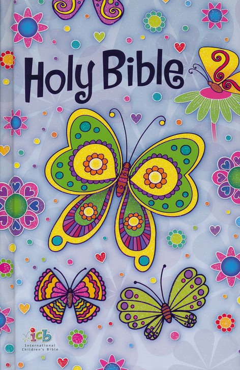 ICB Butterfly Sparkle Bible with Free Colouring Book & Stickers
