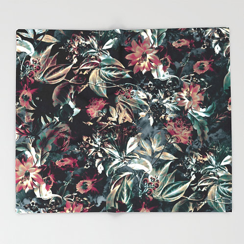 Space Garden THROW BLANKETS