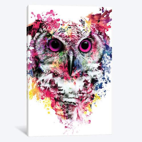 Owl I Canvas, Framed Canvas, Framed Print.