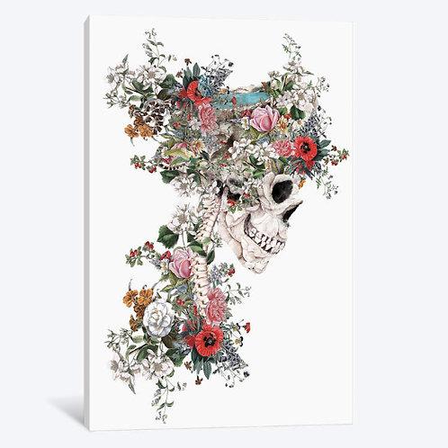 Skull Queen Canvas, Framed Canvas, Framed Print.