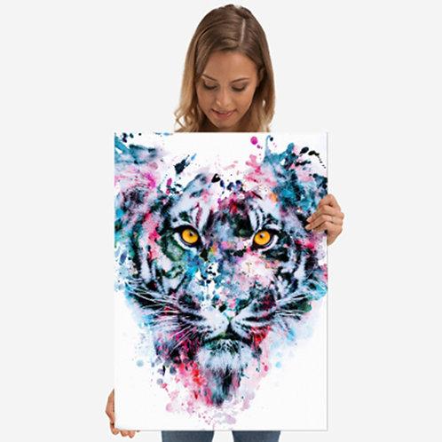 Metal Poster - Tiger Blue