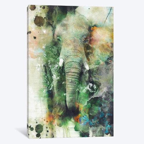 Elephant Canvas, Framed Canvas, Framed Print.
