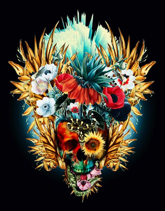 Floral Skull Vivid