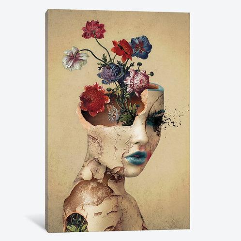 Broken Beauty Canvas, Framed Canvas, Framed Print.