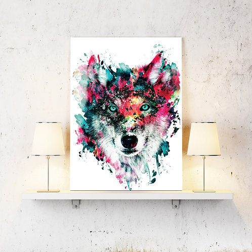 Wolf Wildlife Wild Animals Wall Art Home Decor Digital Art Poster.