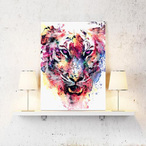 Tiger Wildlife Wild Animals Wall Art Home Decor Digital Art Poster.