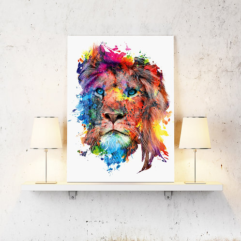Lion Wildlife Wild Animals Wall Art Home Decor Digital Art Poster.