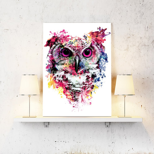 Owl Wildlife Wild Animals Wall Art Home Decor Digital Art Poster.