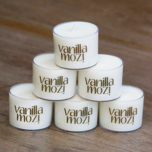 Vanilla Mozi Soy Wax Spa Cup Candles Pack6