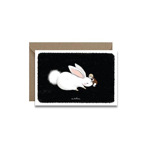 "Carte ""Câlin lapin"""