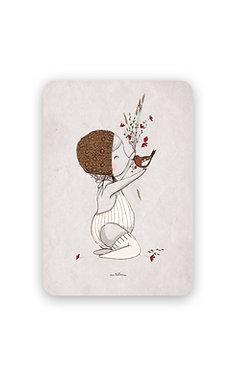 Invitation Anniversaire - Bébé et l'oiseau