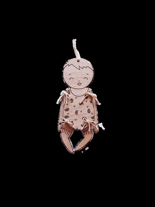 Bébé Doux Citron - pantin de bois
