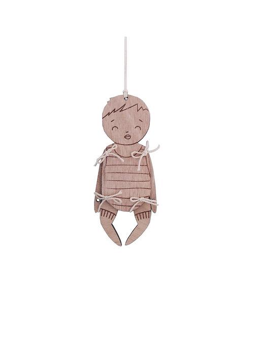 Bébé Doux - pantin de bois