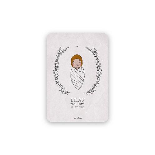 Faire-part Naissance avec portrait bébé