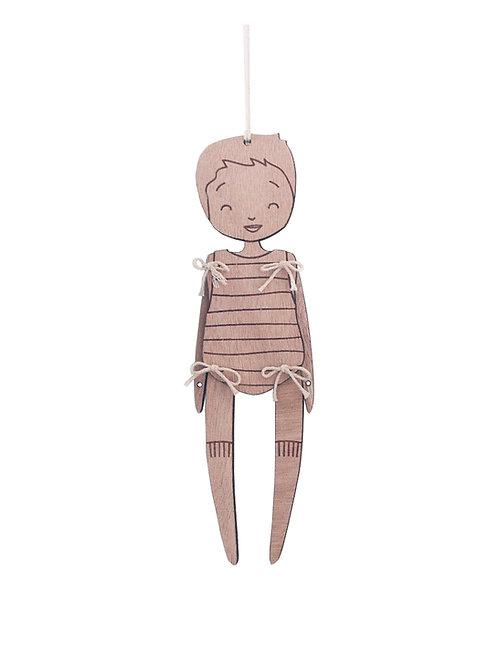 Petit DOUX - pantin de bois