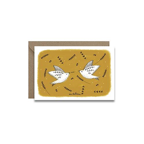 """Carte """"Oiseaux d'amour"""""""
