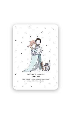 Faire-Part Naissance - Portrait de Famille