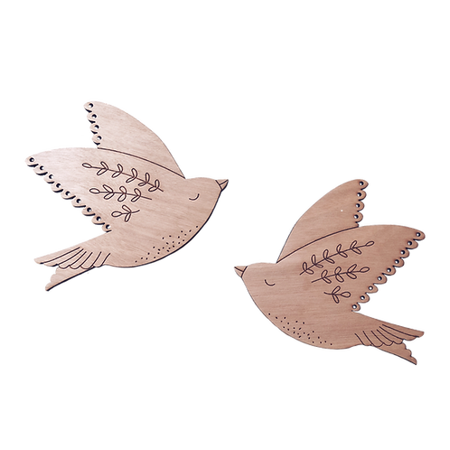Oiseaux d'amour bois