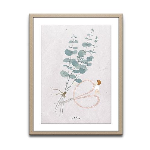 """AFFICHE """"Bouquet d'Eucaliptus"""""""