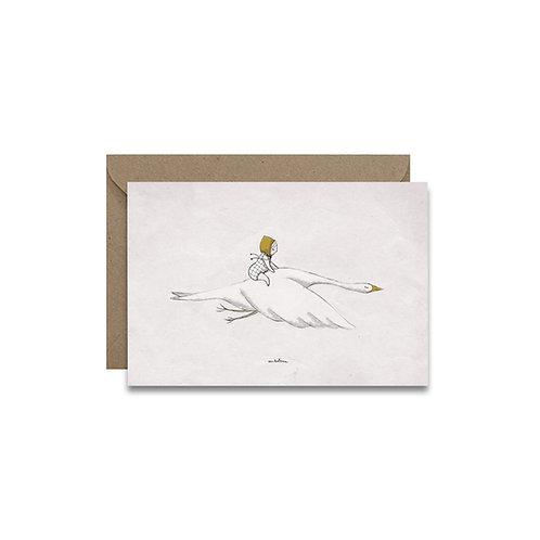 """Carte """"Sur une oie"""""""