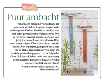 Mooi artikeltje in Ariadne@home (september 2019)