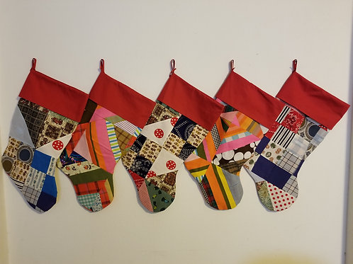 Christmas Stockings - Made from Vintage Quilt Tops