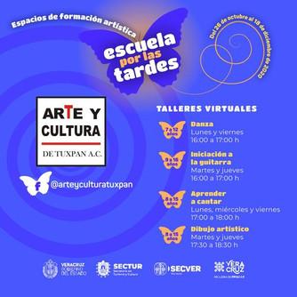ESCUELAS DE FORMACIÓN ARTÍSTICAS POR LA TARDE