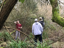 Jake and his D.O.P filming the forest shot