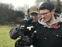Director or Photography Angus and camera asssistant Rob watching back shots
