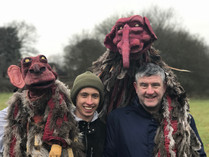 Actors Havery and Bob with there puppets