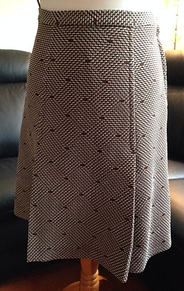 1960's brown front pleat skirt