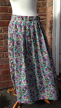 Bright floral skirt.